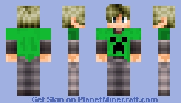 Leon Resident Evil 6 Creeper Minecraft Skin