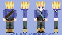 DBZ Future Trunks Super Saiyan (Jacket) Minecraft Skin
