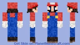 Super Mario Bros Minecraft Skin