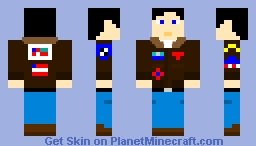 "Peter ""Maverick"" Mitchell (Jacket), Top Gun Minecraft Skin"