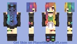 Rainbow Neon Minecraft Skin