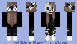 Two Sided Hair Minecraft Skin