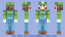 ♥мαηgℓє∂♥ Luigi - Requested by Paladin Soul Minecraft Skin