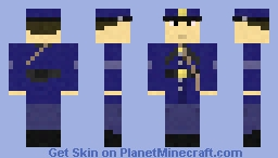 Civil War Union Soldier Minecraft Skin