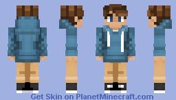 ~ Boy In a Blue Hoodie ~ Minecraft Skin
