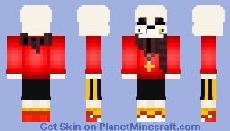 Similiar Flowerfell Sans Skin Minecraft PE Keywords - Skin para minecraft pe de sans