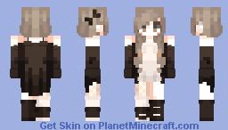 Υυmmγ' - A black and white world ._. Minecraft Skin