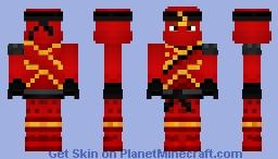 Kai the fire ninja  from Ninjago 8 season Minecraft Skin
