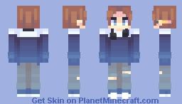 blue orb Minecraft Skin