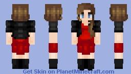 Teen in Red Minecraft Skin