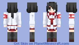 Yandere-chan as a student council member Minecraft Skin