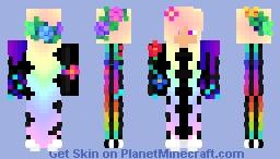 rainbow girl fighter Minecraft Skin