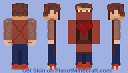 If I Were A Parcel, I'd Deliver You My Heart Minecraft Skin