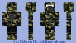 Woodland Camo Clone Scout STAR WARS III Minecraft Skin