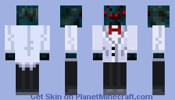Cave Spider in a suit 3D Minecraft Skin