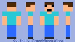 8-Bit Steve Minecraft Skin