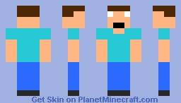 8-Bit Herobrine Minecraft Skin