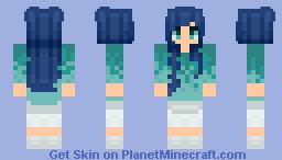 Sea Sweater - Gradient Shading Experiment Minecraft Skin