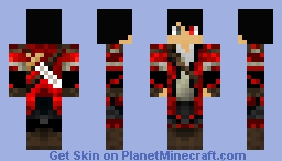 The Red Vampire/Assassion Minecraft Skin
