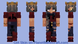 Red Streams Minecraft Skin