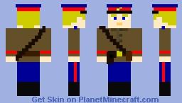 Soviet NKVD (Secret Police) officer, WW2 Minecraft