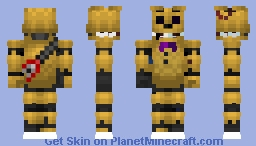Springbonnie Withered Minecraft Skin