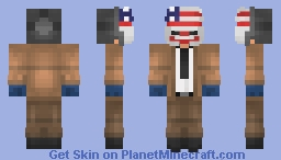 Dallas : PayDay 2 Minecraft Skin