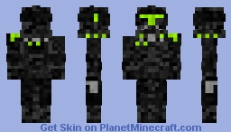 Black Ops Clone Commander STAR WARS III Minecraft Skin