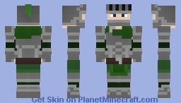 Green Garbed Knight Minecraft Skin