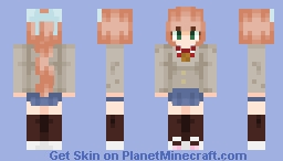 Doki Doki Litrature club - Monika Minecraft Skin