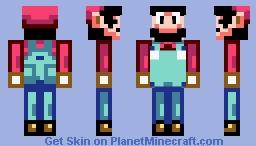 Super Mario World ~ Mario Minecraft Skin