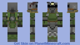 Fallout T-51b Power Armor Minecraft Skin