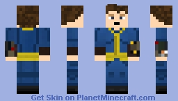 Fallout Vault Jumpsuit (CHECK DESCRIPTION FOR NUMBERED VAULTS) Minecraft Skin