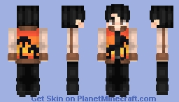 Jimin - BTS - Fire outfit Minecraft Skin