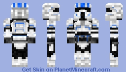 Elite Clone Pilot Alpha STAR WARS III [New Shading and Body Color!] Minecraft Skin