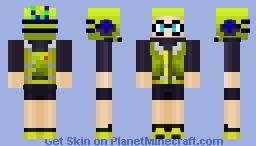 Pete Inkling (Agent 3) Splatoon Minecraft Skin