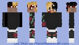 xxxtentacion w/ roses Minecraft Skin