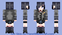 Touka Kirishima - Tokyo Ghoul Minecraft Skin
