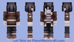 """murderous tendencies, reminds me of mikasa"" - my friends onion on this skin + requests? Minecraft Skin"