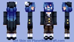 "✰ ℂ𝕙𝕒𝕓𝕚𝕝𝕦𝕝𝕦 ✰ ""Red hands, blue beard."" [CE] Fairy Tale Contest ✰ Minecraft Skin"