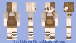 cookies and cream Minecraft Skin