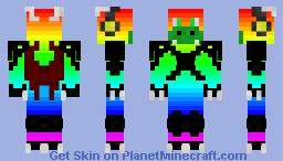 Rainbow Dragon Minecraft Skin
