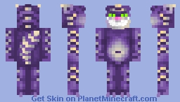 Cheshire smiling cat Minecraft Skin