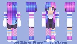Cotton Candy Minecraft Skin