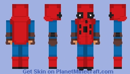 Spiderman homecoming homemade suit Minecraft Skin