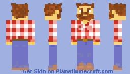 Nippy Neko's, Red Plaid Shirt Country Guy Minecraft Skin