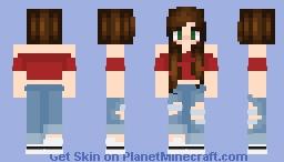 tumblr crop top girl Minecraft Skin