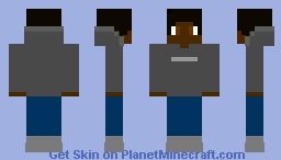 Grey Sweatshirt Minecraft