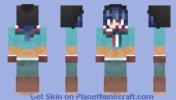 Yuru Camp - Rin Shima (Loose Hair) Minecraft Skin