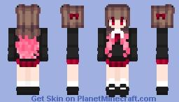 【wнiтee♕】Kawaii Girl Minecraft Skin